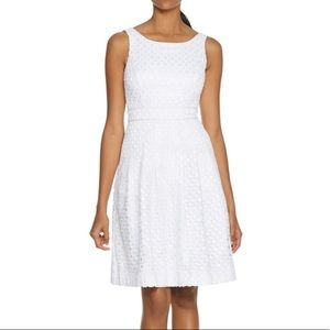 688b1ce476b42 White House Black Market Dresses - WHBM Textured Embroidered Eyelet Fit & Flare  Dress
